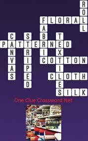 Patterned Fabrics Crossword