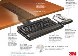 keyboard tray for desk in 3m akt180le adjule under mount ergonomic inspirations ikea with lip middle