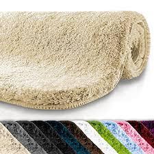 casa pura bath mat cream beige luxurious bathroom rug with soft pile non