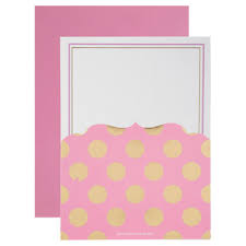Polka Dot Invitations Pink Gold Polka Dot Invitations