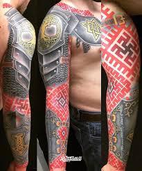 фото татуировки узоры в стиле славянский цветная татуировки на