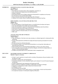 Analyst Healthcare Resume Samples Velvet Jobs