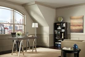 darker trim painted in city loft and lighter upper color is urban bird both by kelly
