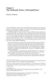 the mckusick twins a personal essay springer inside