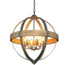 amazing of wooden orb light fixture huge metal wood sphere chandelier