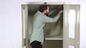 Storage Cabinets With Lock Hallowell Storage Cabinet Assembly Guide Youtube