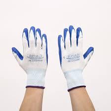 <b>1 Pair</b> Garden Gloves Safety Gloves <b>Nylon</b> With Nitrile Coated Work ...