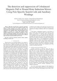 pdf the detection and suppression of unbalanced magnetic pull in wound rotor induction motors using pole specific search coils and auxiliary windings