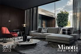 minotti home accessories new york annual floor sample sale