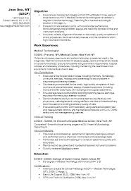 Nuclear Medicine Technologist Resume Examples Comparison Of Ct Mri