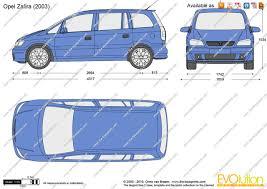 The-Blueprints.com - Vector Drawing - Opel Zafira