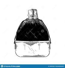 эскиз руки вычерченный склянки воды тазобедренной в черноте