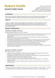 resume for teachers assistant assistant toddler teacher resume samples qwikresume