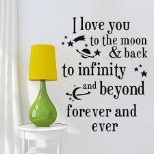 Ich Liebe Dich Zum Mond Und Zurück Zitate Wandaufkleber Romantische