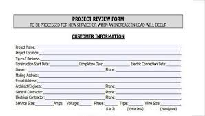 Sample Project Review Forms 7 Free Documents In Word Pdf
