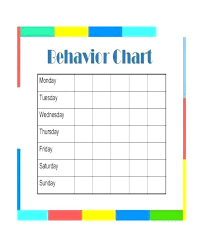 Conduct Chart Printable Disclosed Free Printable Behavior Charts For Teachers