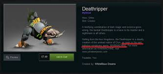 why the new deathripper courier sets a bad precedent dota2