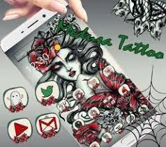Theme Tattoo Girl With Red Rose Aplikace Na Google Play
