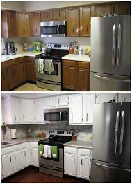 Painted Kitchen Cabinets Remodelaholic Diy Refinished And Painted Cabinet Reviews