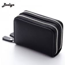 fashion genuine leather women cardholder wallet high capacity credit card holder female coin purse thumbnail
