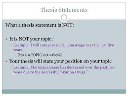 More on thesis statements   A good