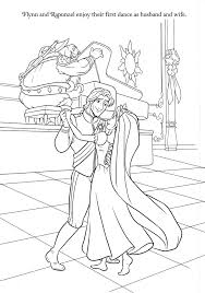 Rapunzel Wedding Coloring Papges Princess Rapunzel And Flynn