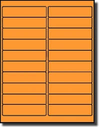 Avery 5261 Label Template 400 Labels 4 X 1 Inches Fluorescent Neon Orange 20 Sheets Use Avery 5261 Template Laser Printers Only