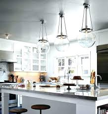 kitchen island light height hanging for islands pendant lights fixtures clear glass
