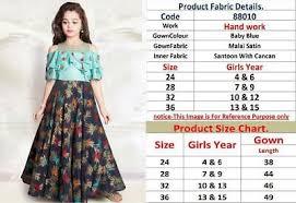 Indian Anarkali Kids Gown Salwar Kameez Pakistani Bollywood Designer Suit Ebay