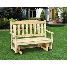 pressure treated pine 4 ft english garden glider bench unfinished painted or stained