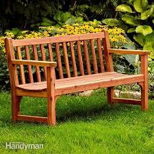 build a classic garden diy bench with