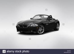 2008 BMW M Roadster Z4 in Black - Front angle view Stock Photo ...