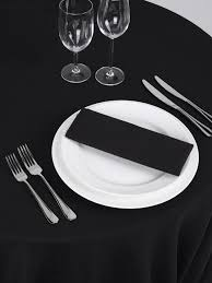 taffeta crushed round tablecloth black 132