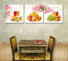 dining room wall art amazon. modern home decoration wall art printed oil painting pictures no frame 3 piece large canvas set fruits restaurant decor dining room amazon