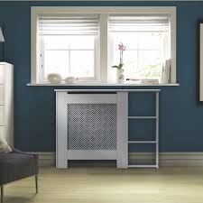 Mayfair Mini White Painted End Shelf Radiator Cover | Departments | DIY at  B&Q.