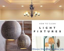 how to clean light fixtures chandeliers and recessed lighting