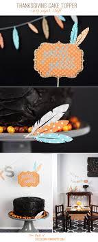 Easy Thanksgiving Cake Topper - Gobble Gobble