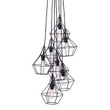 attractive multi bulb ceiling light zuo modern palmerston caged multi bulb pendant lamp at modernist