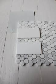 carrara marble hexagon tile artistic 4x6 white subway tile with carrara hex floor tile