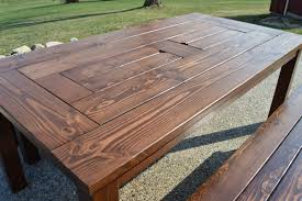 wood patio furniture plans. Patio Table With Ice Boxes, Kruse\u0027s Workshop On Remodelaholic Wood Furniture Plans O