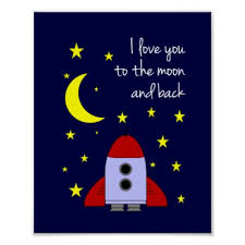 on love you to the moon and back wall art uk with moon poster i love you from here to the moon zazzle uk