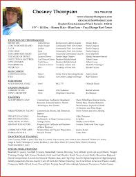 Examples Of Acting Resumes Simple Beginner Actor Resume Sample