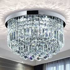 saint mossi modern k9 crystal raindrop chandelier lighting flush mount led ceiling light fixture pendant lamp for dining room bathroom bedroom livingroom 9