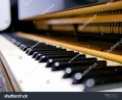 Grand Piano Music Light Grand Piano Mechanism Include Hammers Keys Stock Photo Edit
