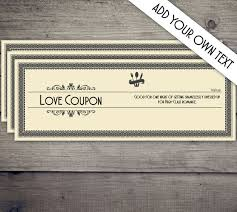 Create Your Own Voucher Template Magnificent Coupon Book Coupon Template Love Coupon Date Night Coupon Etsy