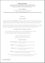 Server Experience Resume Examples Server Experience On Resume Speed Club