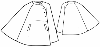 Poncho Sewing Pattern New Poncho Coat Sewing Pattern 48 Madetomeasure Sewing Pattern