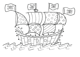 Ship Coloring Pages Pirate Ship Coloring Page In Pirate Coloring