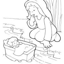 Small Picture Baby Moses was Safe in His Basket Boat Coloring Page Color Luna