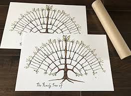 Simple Family Tree Chart Farmhouse Decor Friendly Un Framed 2 Fill In Prints For Ancestry And Genealogy